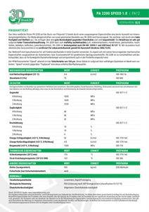 PA2200 SPEED 1.0 Materialdatenblatt