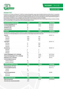PA3200GF Materialdatenblatt